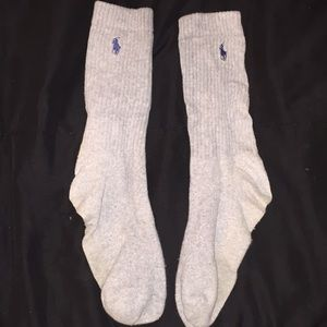 Polo Gray Crew Socks